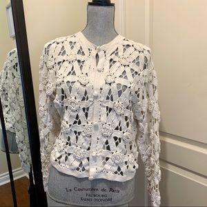 Vintage white crochet cardigan (medium)